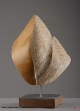 """""""Éclosion 1"""" - Jaune de Sienne - 35 x 26 x 12 cm - 2006"""