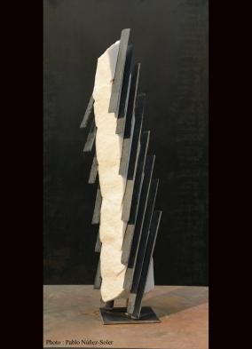 Marbre de carrare et Ardoise - 65 x 13 x 11 cm -2014