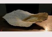 Marbre Jaune de Sienne - 61 x 34 x 11 cm - 2014