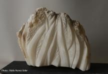 """""""Laminaires"""" - Albâtre - 17 x 24 x 9 cm - 2020"""